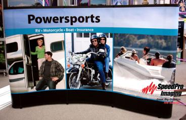 Curved Trade Show Display for Powersports