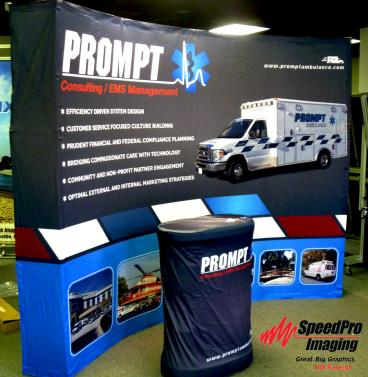 Prompt gets New Curved Trade Show Display