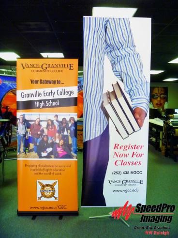 Large Banner Stands for Vance Granville Community College