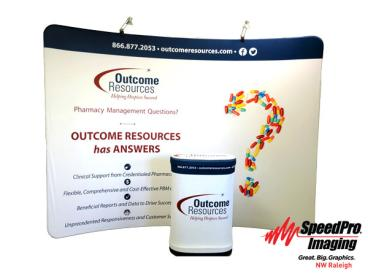 Fabric Trade Show Display for Outcome Resources