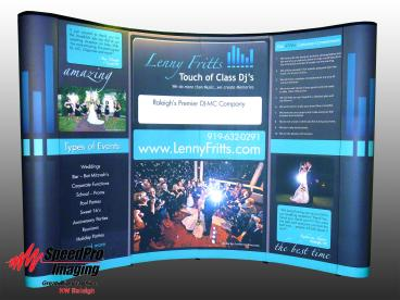 Curved Trade Show Display for Lenny Fritts