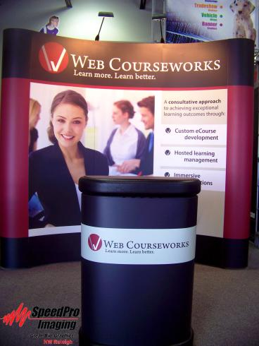 Web Courseworks gets new Trade Show Display