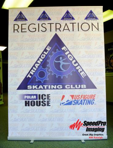 Triangle Figure Skating Club gets Banner Stand