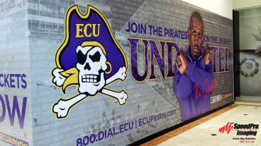ECU Barricade Wrap at Crabtree Valley Mall