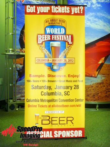 World Beer Festival gets Banner Stand to Advertise their Event