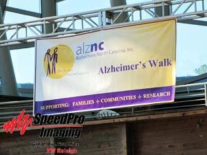 Outdoor Banner for Alzheimer's Walk