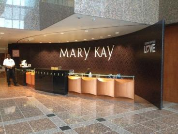 Mary Kay Headquarters info desk wall by Speedpro Imaging of Dallas on Elmbrook Drive