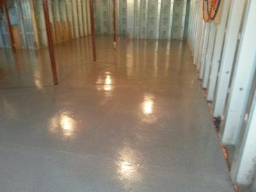 Recently Painted a Basement Floor with Two Part Epoxy Concrete Paint in Plains