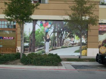 Outdoor Wall Mural Barricade Graphic Dallas