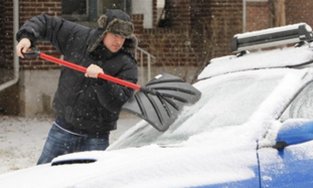 Next time it's cold, be careful how you scrape the ice off of your windshield.