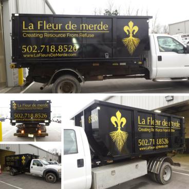 La Fleur De Merde - Dumpster Decals