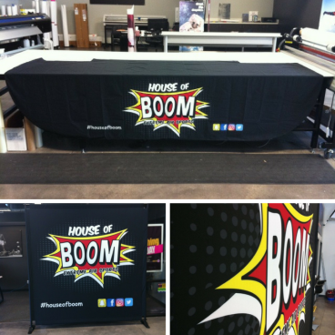 House of Boom - Table Throw & Backdrop