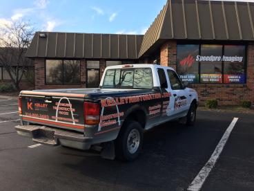 Just finished up this Truck Wrap for Kelley Restoration LLC