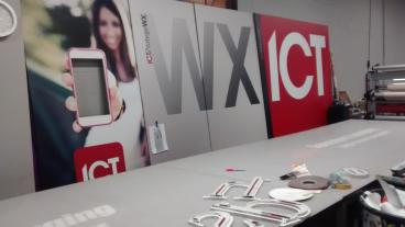ICT: 3M IJ35C Vinyl with Matte Over Laminate Mounted to 1/2