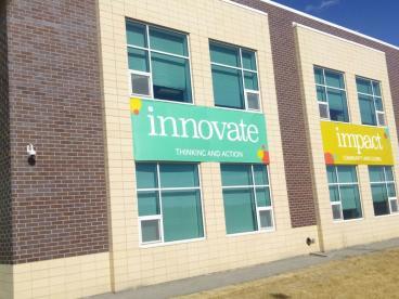 Inspire Elementary School: Single sided print to 13 oz scrimbanner