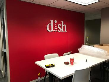 Dish Network: Router Cut 1/2 inch acrylic Mounted and polished