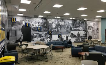 Neumann University - 50' Wall Mural with Acrylic Panels and Stand-offs