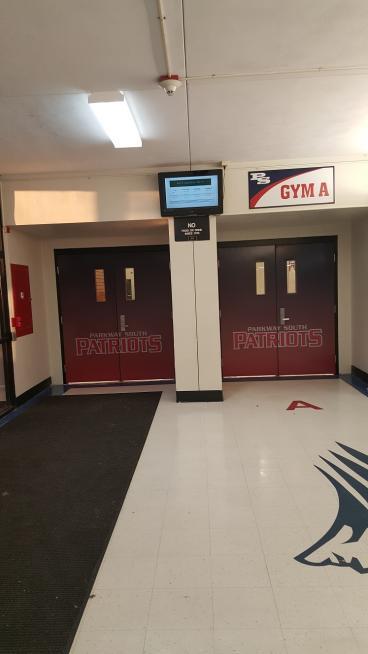 Gym Door Wrap