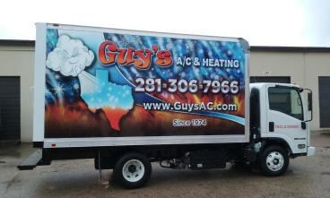 Box truck graphic for Guy's AC