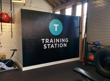 Training Station wall mural Alameda
