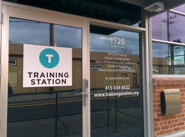 Training Station door graphics Alameda