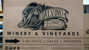 Dalvino Winery Signage