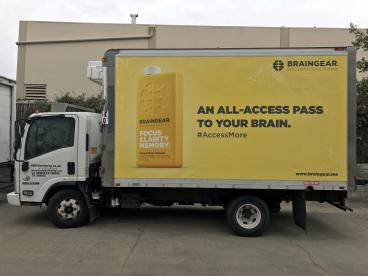 Braingear box truck wrap Alameda