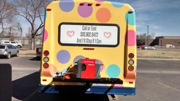 Full Wrap 12 passenger Transit Bus:           Metro Denver