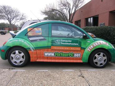 Computer Troubleshooters Vehicle Wrap Dallas Texas
