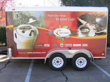 Javataza Coffee Vehicle Wrap Dallas Texas