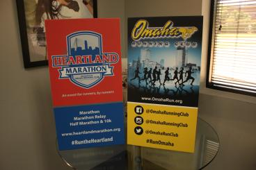 Omaha Running Club Banner Stands Speedpro Irving Dallas Texas