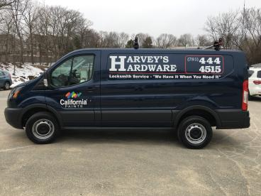 Harvey's Hardware Vehicle Lettering