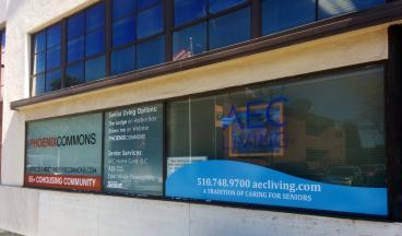 AEC living window graphics Alameda