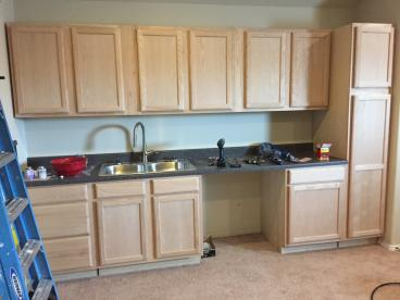 Install Cabinets, Countertop and Sink