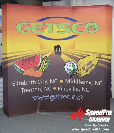 Curved Pop-up Trade Show Display for Getsco