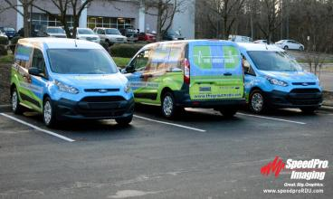 Full Vehicle Wraps for Grout Medic Fleet