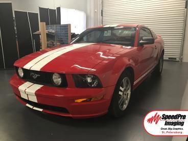 Custom Mustang Racing Stripes