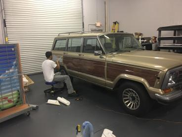 Wood Panel Vehicle Wrap
