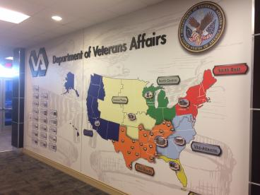 Designed the wall for VA Dept. of Veterans Affairs in Nashville!