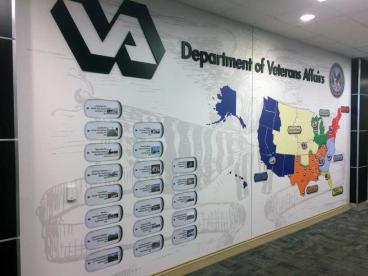 Wall Mural Dept of Veteran Affairs