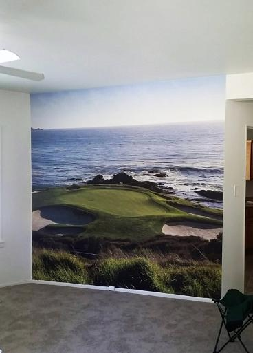 Wall Mural on Photo Tex Repositionable Vinyl