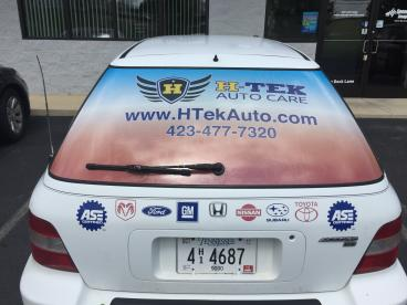Back Window Perf for H-Tek Auto Care.