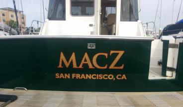 Boat lettering Alameda