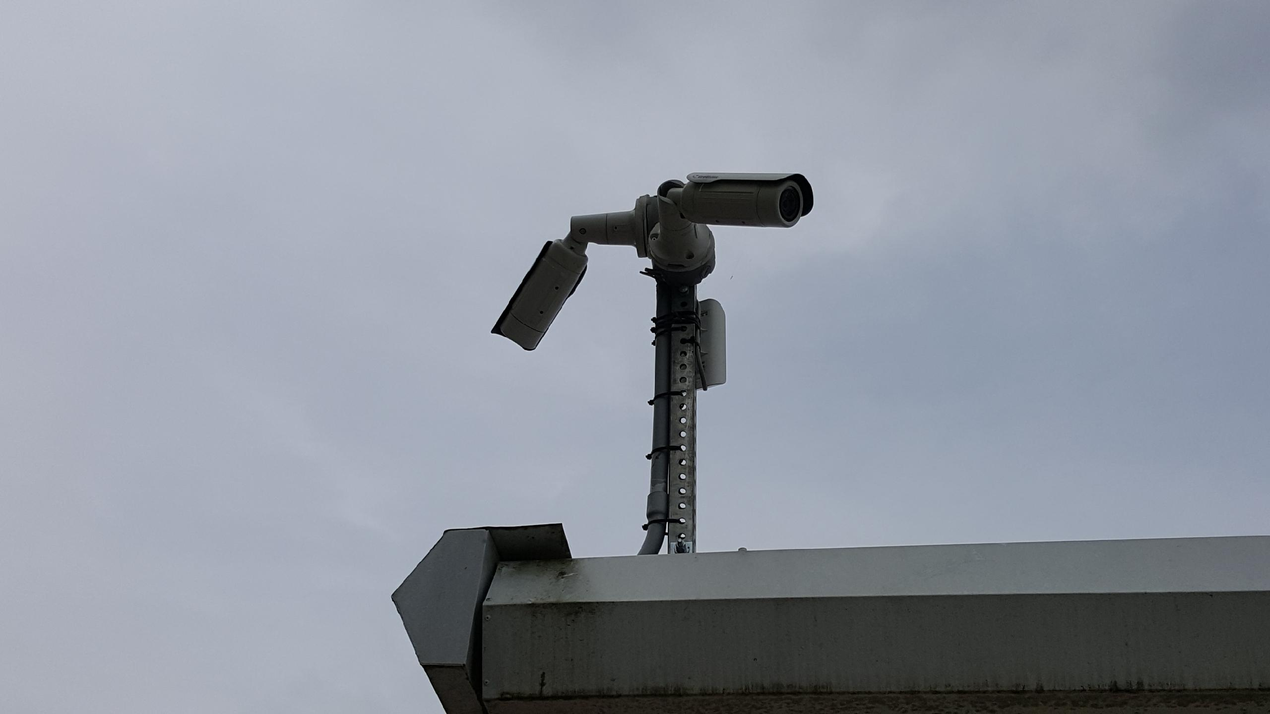 Security camera's located through out the facility.