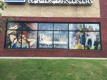 Window Graphics for Riccobene Associates Family Dentistry in Garner, NC