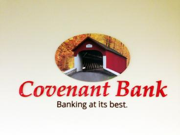 Covenant Bank New Jersey Acrylic Lettering Indoor Sign