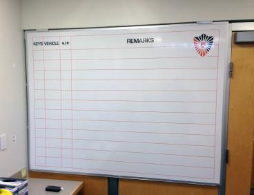 Custom Indoor Whiteboard for Princeton University Police New Jersey