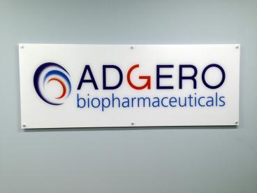 Adgero Biopharmaceuticals Indoor Sign New Jersey