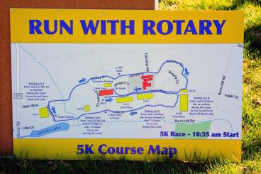 Run With Rotary Outdoor Map Sign New Jersey