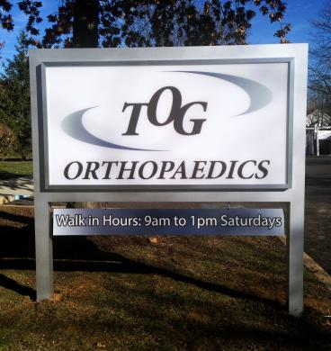 Trenton Orthopedic Group TOG Orthopedics New Jersey Outdoor Sign